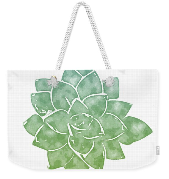 Green Succulent 1- Art By Linda Woods Weekender Tote Bag