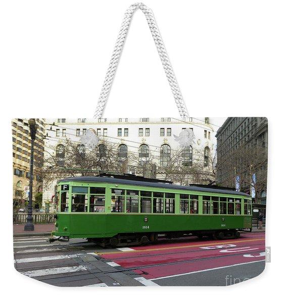 Green Trolley Weekender Tote Bag