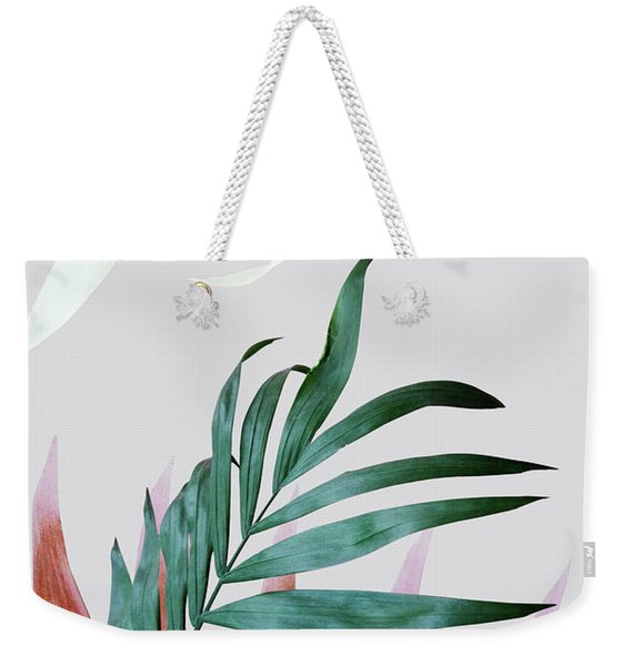 Green Tropical Leaves, Fern Plant Weekender Tote Bag