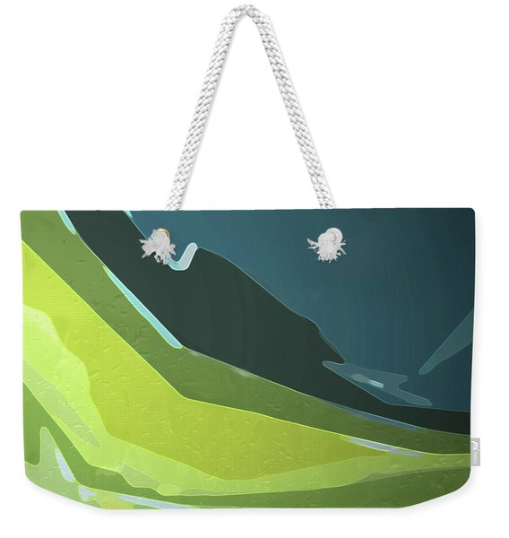 Weekender Tote Bag featuring the digital art Green Valley by Gina Harrison