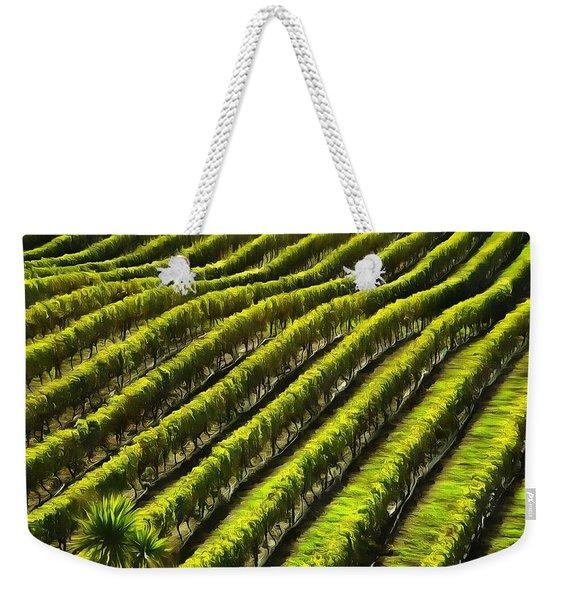 Green Vineyard Field Weekender Tote Bag