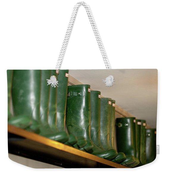 Green Wellies Weekender Tote Bag