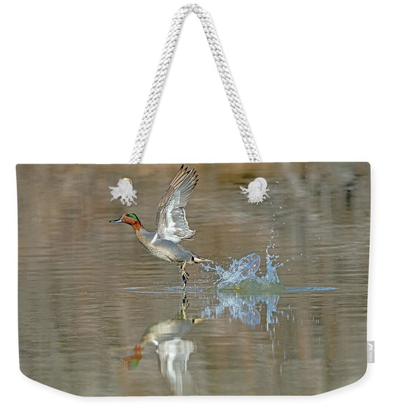Green-winged Teal Duck Weekender Tote Bag