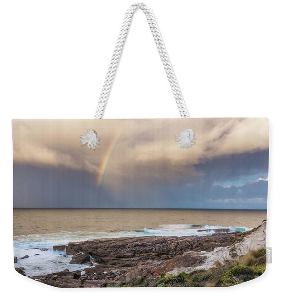 Green Cape Rainbow Weekender Tote Bag