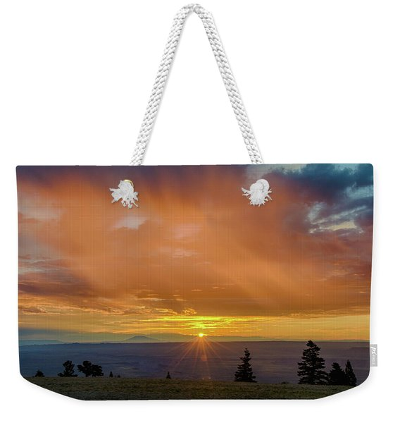 Greet The Marble View Morning Weekender Tote Bag