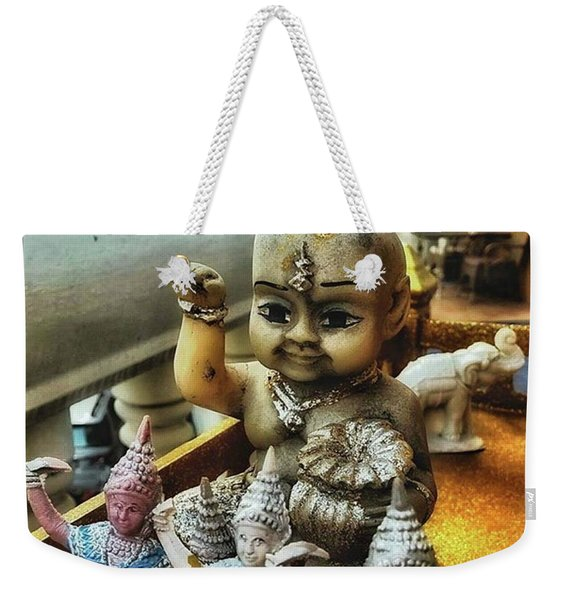 Weekender Tote Bag featuring the photograph Greetings From Thailand. These Jolly by Mr Photojimsf