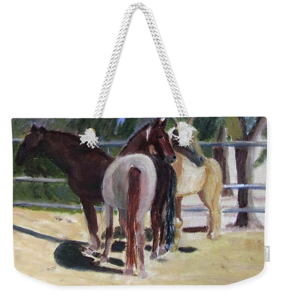 Gregory And His Mares Weekender Tote Bag