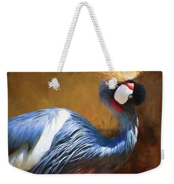 Grey Crowned Crane Weekender Tote Bag