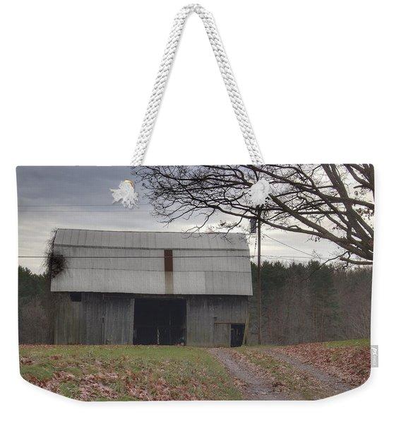 0014 - Grey Horse Barn Weekender Tote Bag