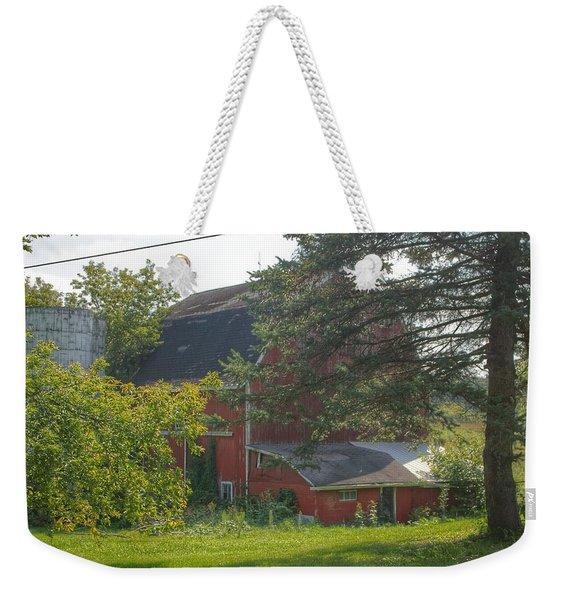 0015 - Grey Road Red I Weekender Tote Bag