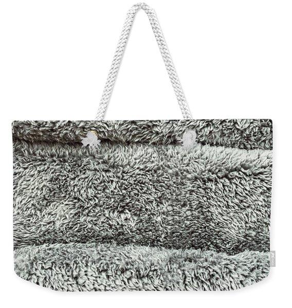 Grey Towels Background  Weekender Tote Bag