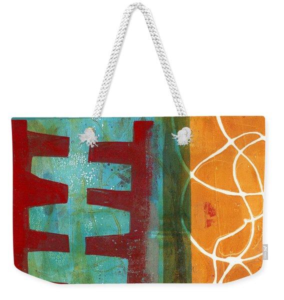 Grid Print 12 Weekender Tote Bag