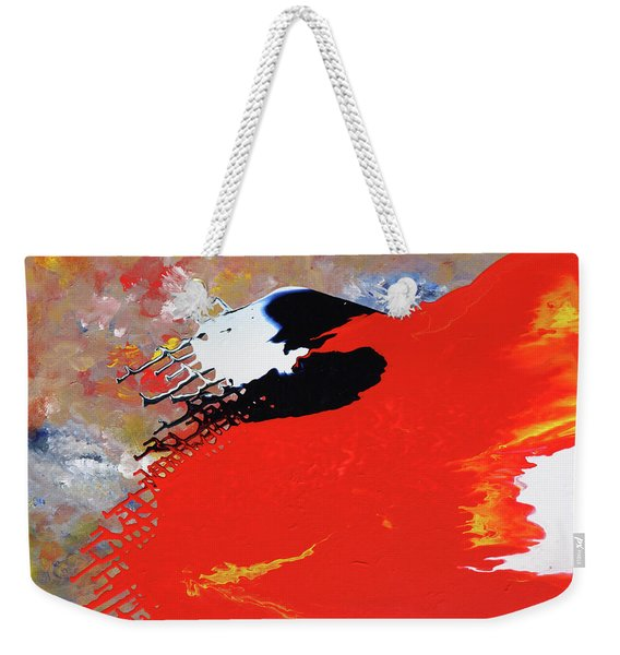 Grid Weekender Tote Bag
