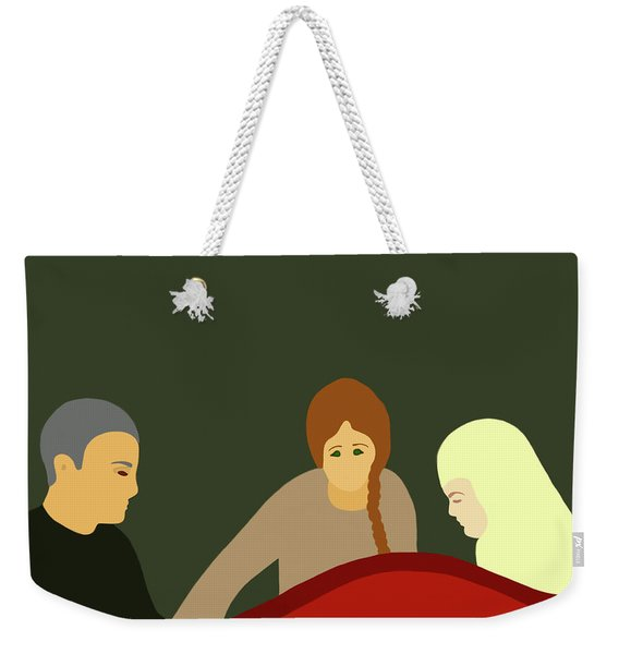 Weekender Tote Bag featuring the painting Grief by Marian Cates