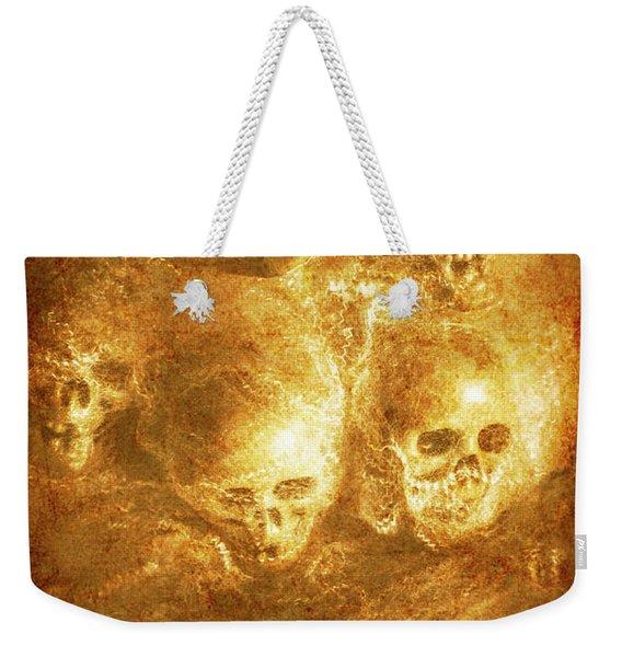 Grim Tales Of Burning Skulls Weekender Tote Bag