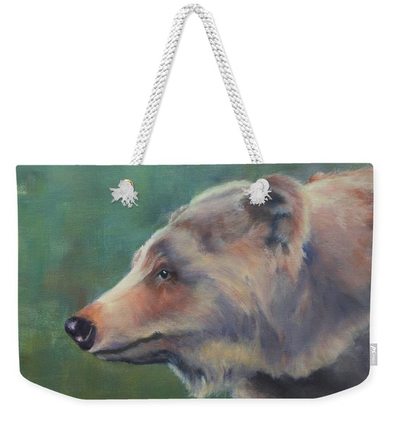 Grizzly Bear Portrait Weekender Tote Bag