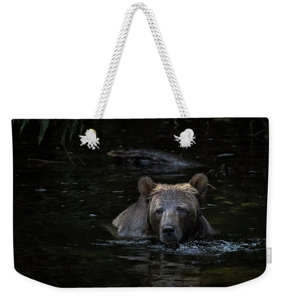Grizzly Swimmer Weekender Tote Bag