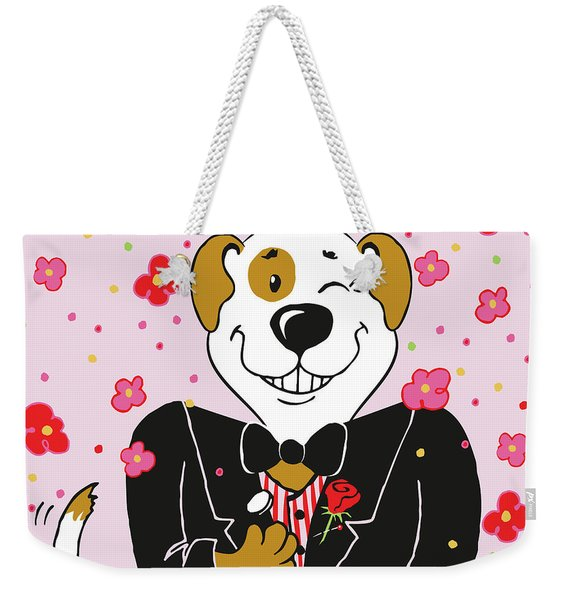 Groom Dog Weekender Tote Bag