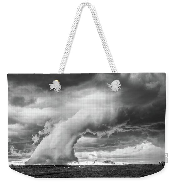 Weekender Tote Bag featuring the photograph Groom Storm Bw by Scott Cordell