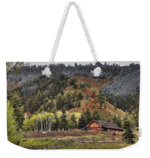 Gros Ventre River Ranch Weekender Tote Bag