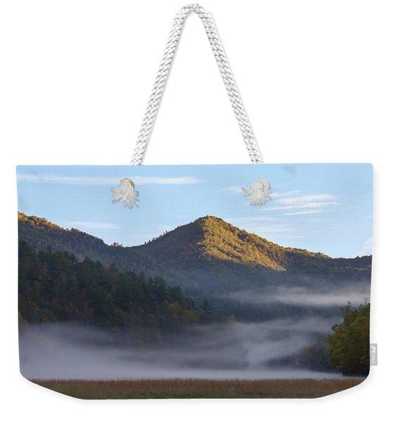 Ground Fog In Cataloochee Valley - October 12 2016 Weekender Tote Bag