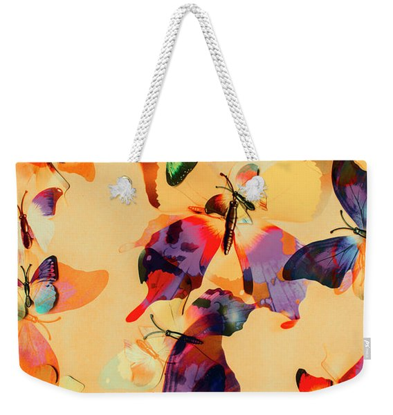 Group Of Butterflies With Colorful Wings Weekender Tote Bag