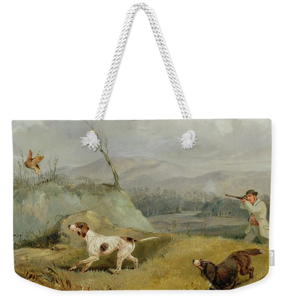 Grouse Shooting  Weekender Tote Bag