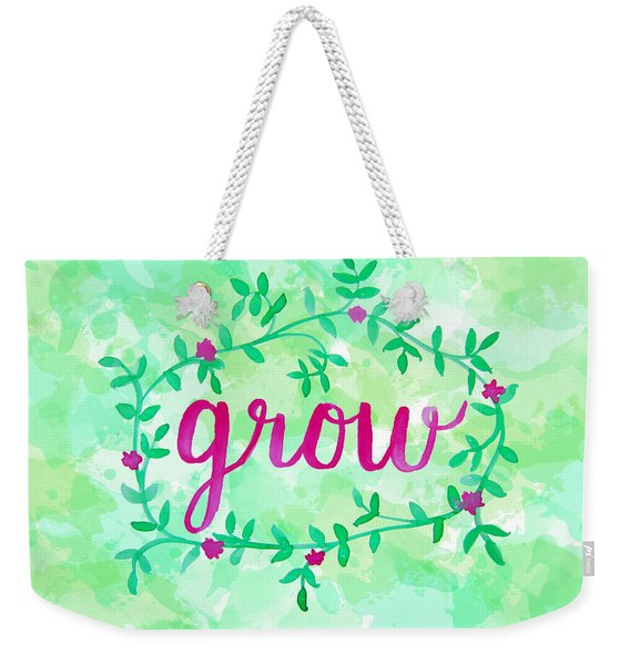 Grow Watercolor Weekender Tote Bag