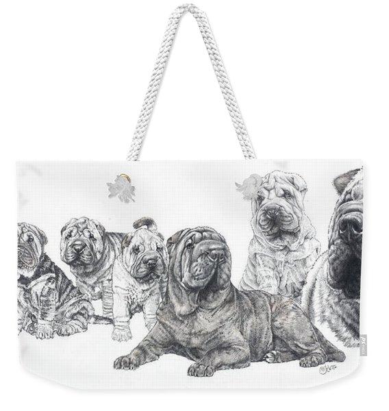 Mister Wrinkles And Family Weekender Tote Bag