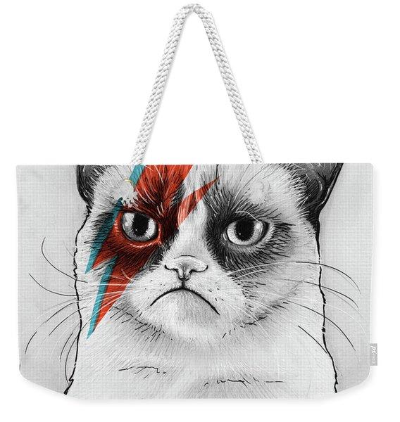 Grumpy Cat As David Bowie Weekender Tote Bag