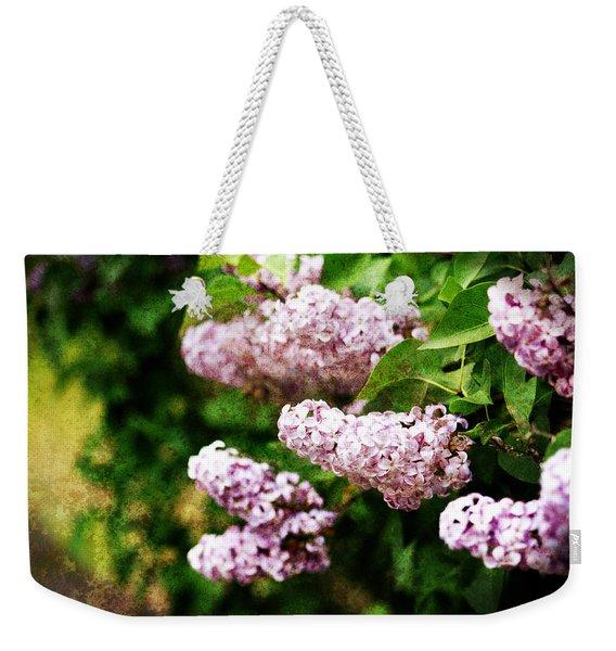 Grunge Lilacs Weekender Tote Bag