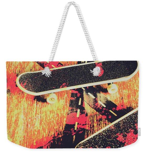 Grunge Skate Art Weekender Tote Bag