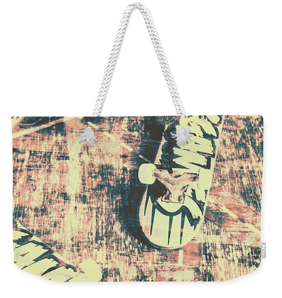 Grunge Skateboard Poster Art Weekender Tote Bag