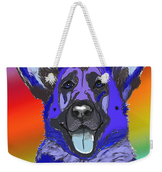 Gsd In Digi Blue Weekender Tote Bag