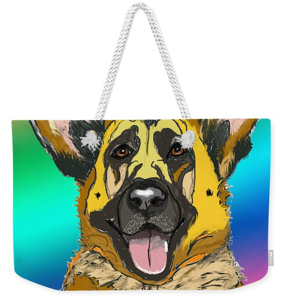 Gsd In Digi Yellow Weekender Tote Bag