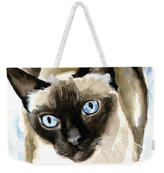 Guardian Angel - Siamese Cat Portrait Weekender Tote Bag