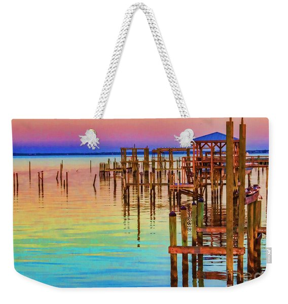 Guarding The Dock Weekender Tote Bag