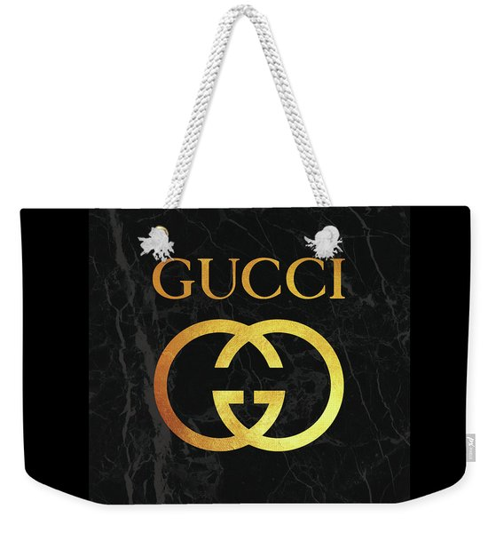Gucci - Black And Gold - Lifestyle And Fashion Weekender Tote Bag