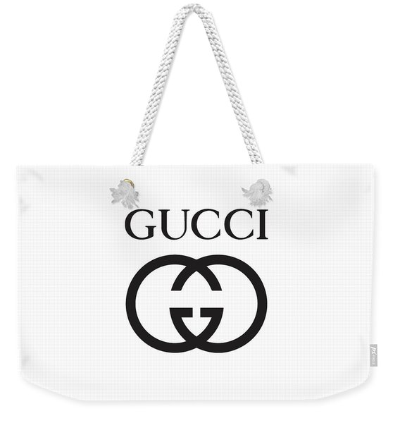 Gucci - Black And White 02 - Lifestyle And Fashion Weekender Tote Bag