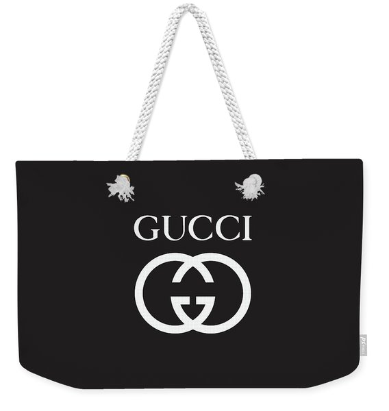 Gucci - Black And White - Lifestyle And Fashion Weekender Tote Bag