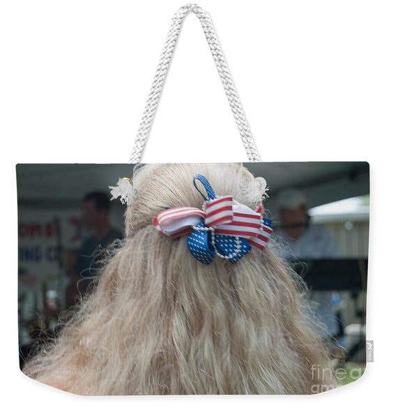 Red, White And Bow Weekender Tote Bag