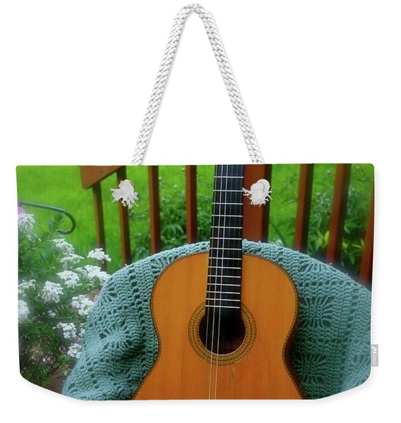 Guitar Awaiting Weekender Tote Bag