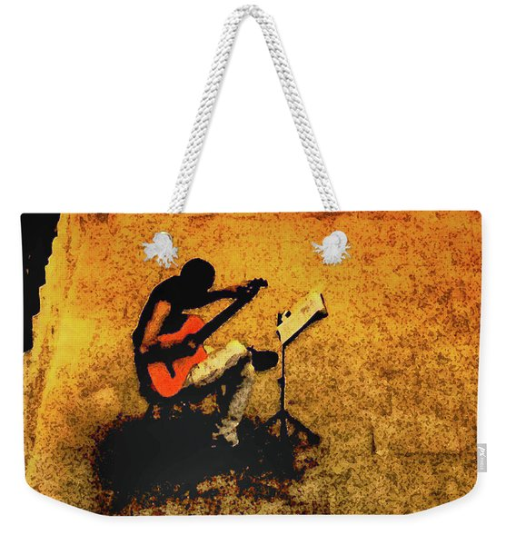 Guitar Player In Arles, France Weekender Tote Bag