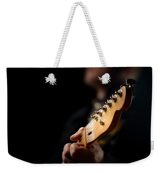 Guitarist Close-up Weekender Tote Bag
