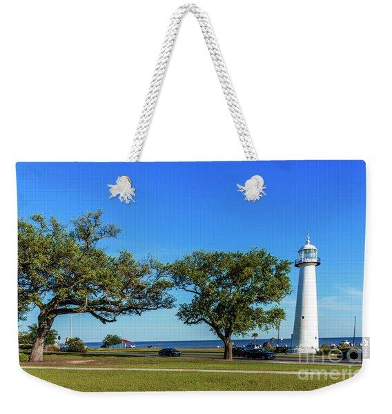 Gulf Coast Lighthouse Seascape Biloxi Ms 3663b Weekender Tote Bag
