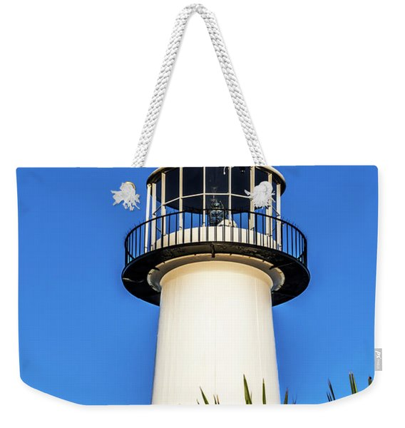 Gulf Coast Lighthouse Seascape Biloxi Ms 3819a Weekender Tote Bag