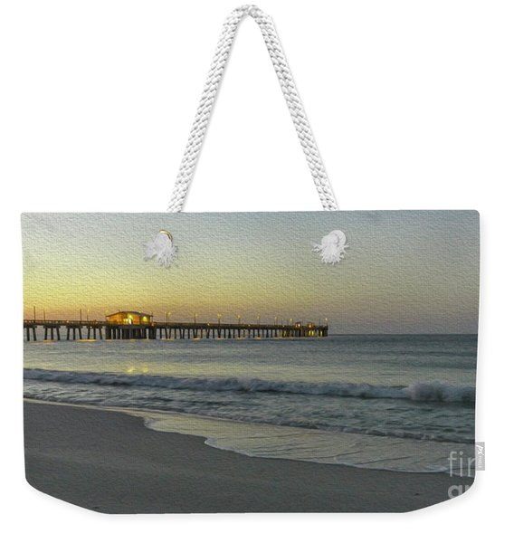Gulf Shores Alabama Fishing Pier Digital Painting A82518 Weekender Tote Bag