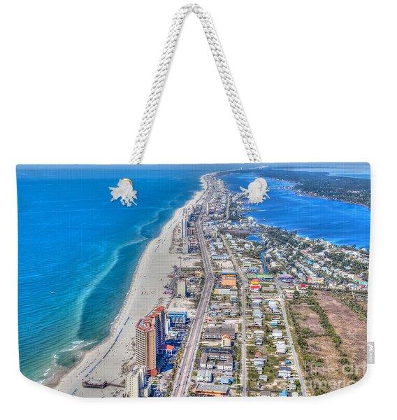 Gulf Shores Beach Looking W Weekender Tote Bag