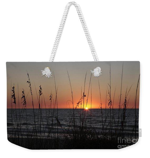 Gulf Sunset In Florida Weekender Tote Bag