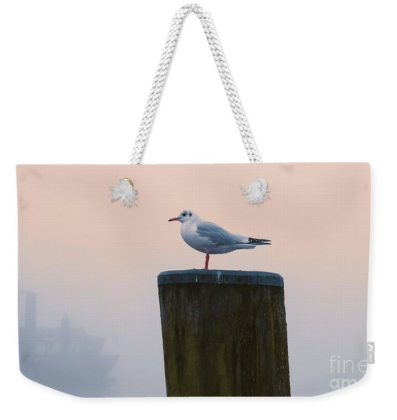 Gull And Fog Weekender Tote Bag